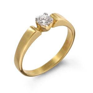 Ювелирные изделия на заказ: кольца на день рожденья женские с бриллиантом из золота