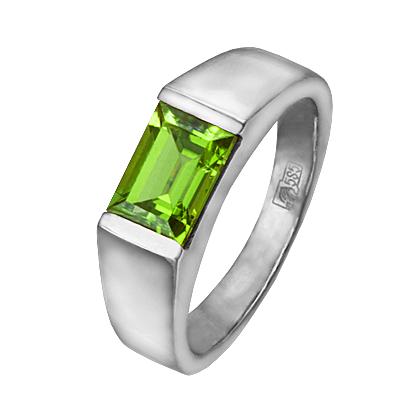 Ювелирные изделия на заказ: на юбилей из золота кольца с хризолитом