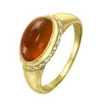 Кольцо с бриллиантами и сердоликом