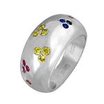Кольцо с цветными сапфирами